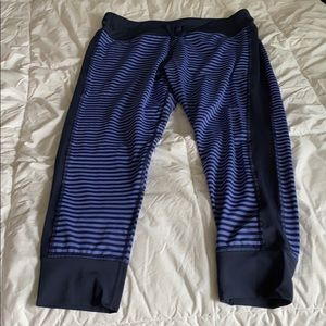 Aerie striped joggers 7/8 length